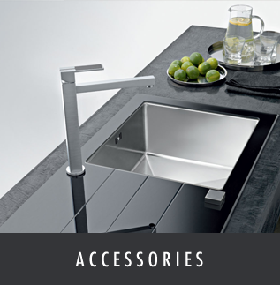 Details of the kitchen, bedroom and bathroom accessories at Melksham Kitchens