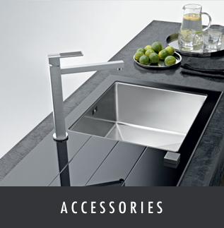 Details of the kitchen, bedroom and bathroom accessories at Melksham Kitchens