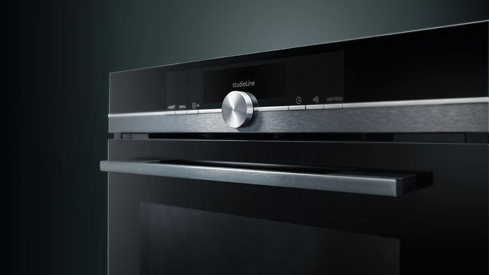 See the studioLine blackSteel ovens in our Melksham Kitchens showroom